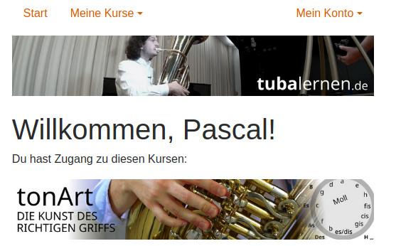 Mitgliederbereich konto.tubalernen.de